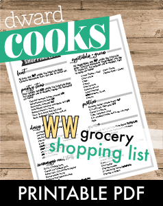 WW Shopping List