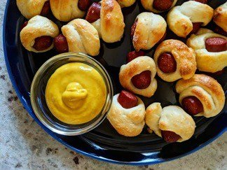 Pigs in a Blanket with Mustard