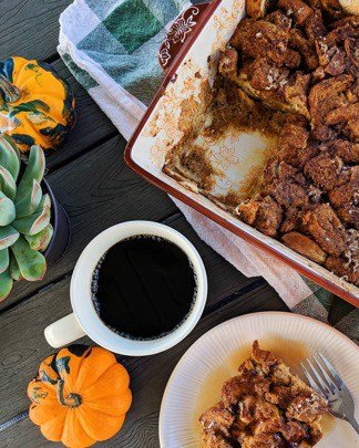 Pumpkin Chai French Toast Casserole