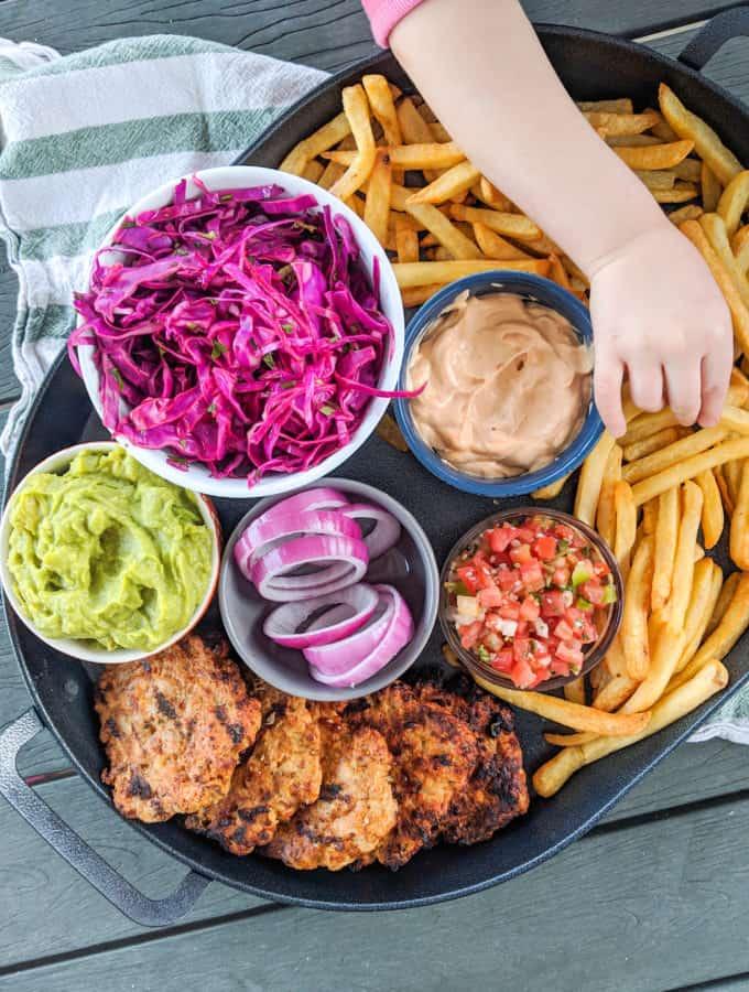 Southwestern Turkey Burger Platter