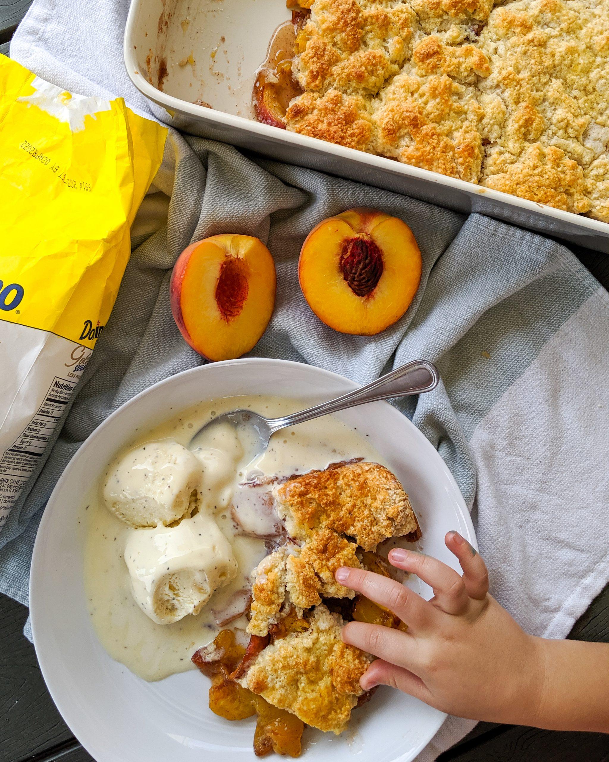 healthy peach cobbler weight watchers