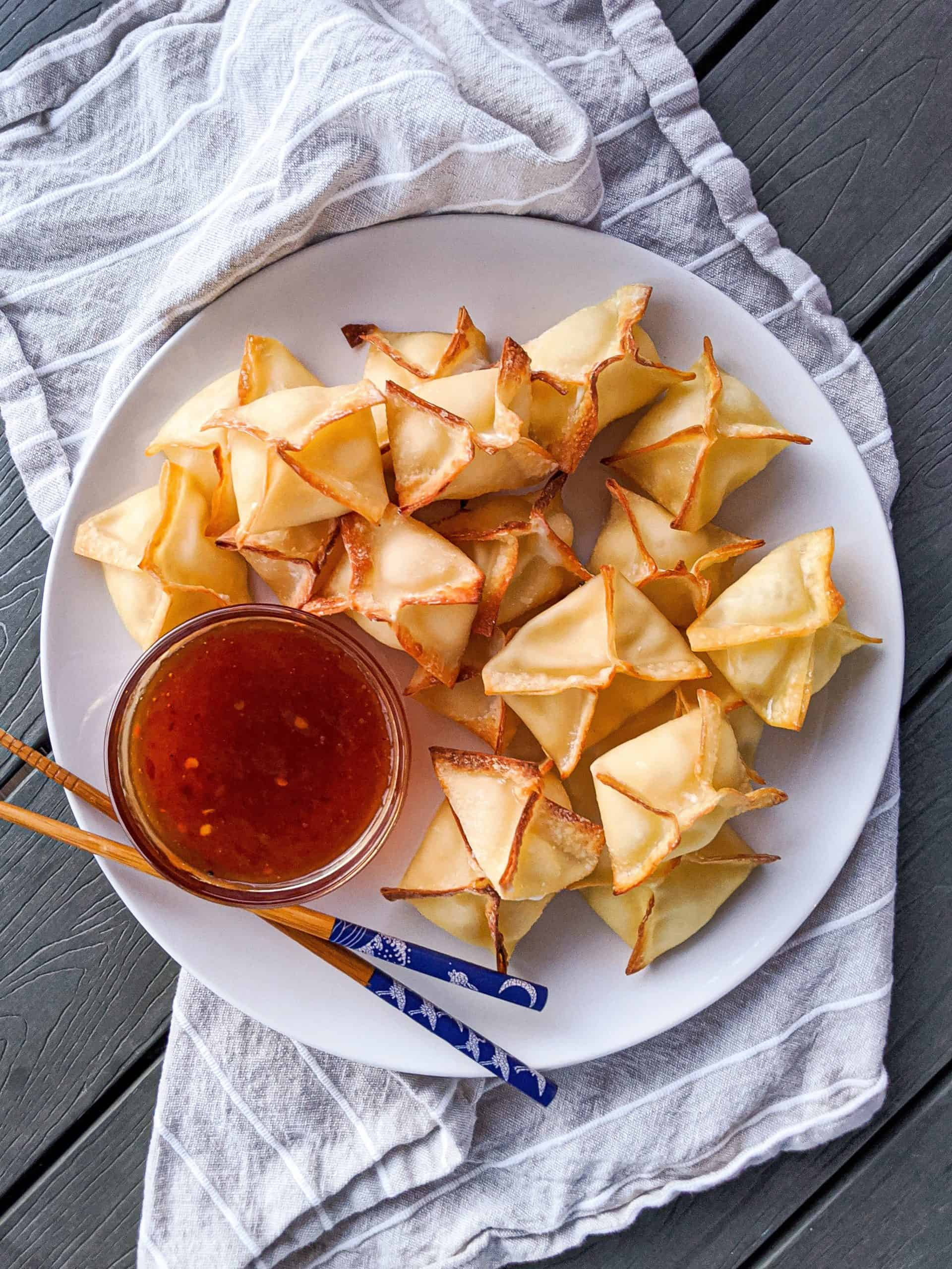 Air Fryer Cream Cheese Rangoon
