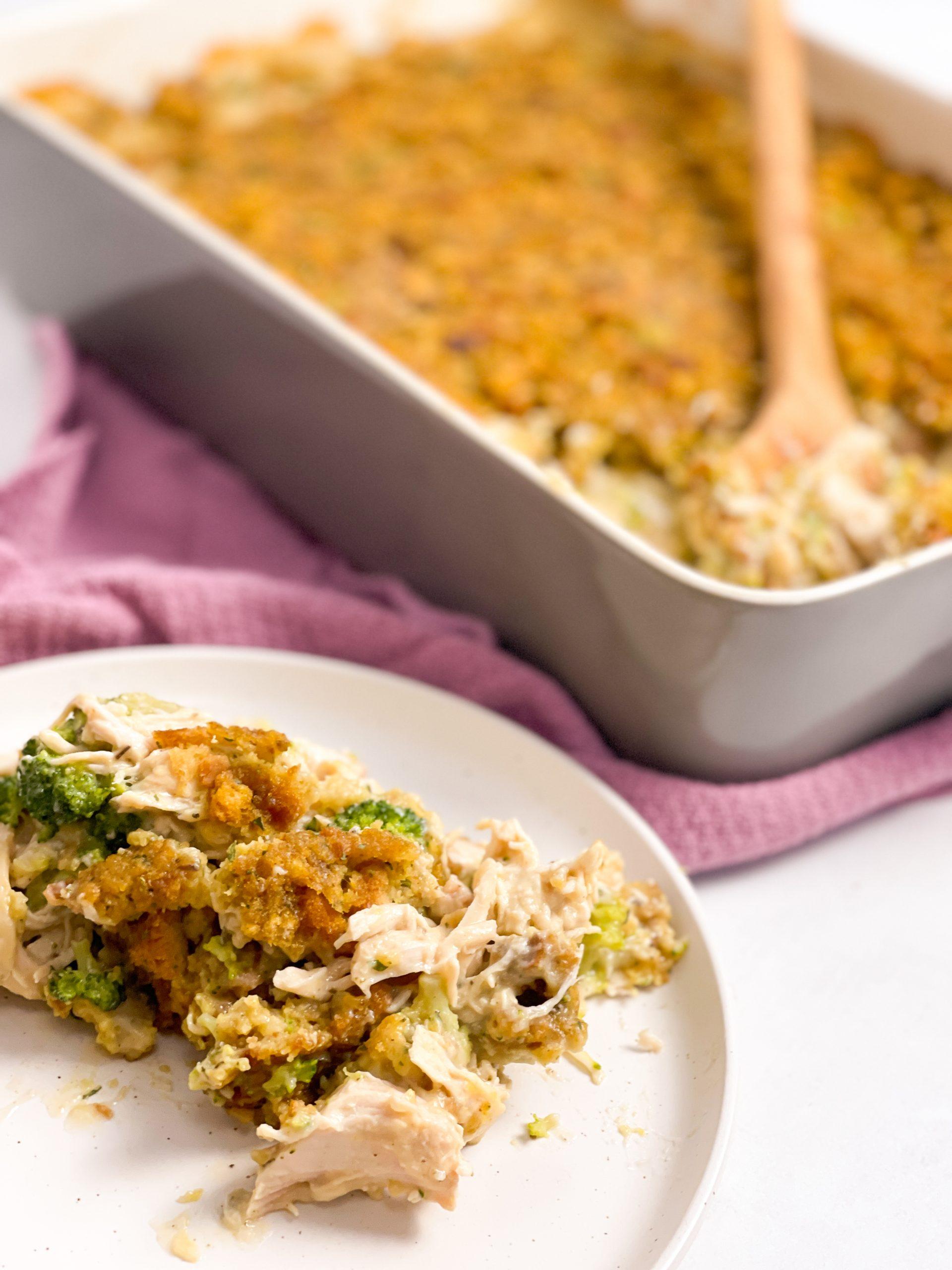 Easy Chicken Stuffing Casserole Healthy